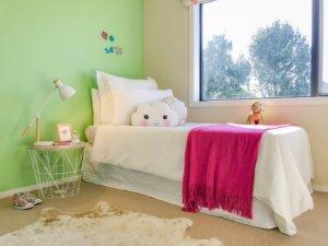 staged kids room