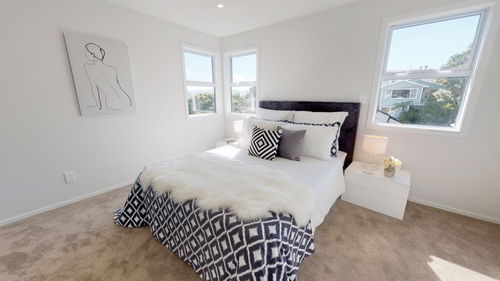 Black and White bedroom styling